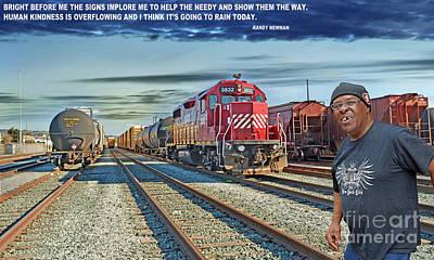 Digital Art - Crossing The Train Tracks II by Jim Fitzpatrick