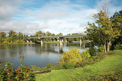 Photograph - Crossing The Willamette by Tom Cochran