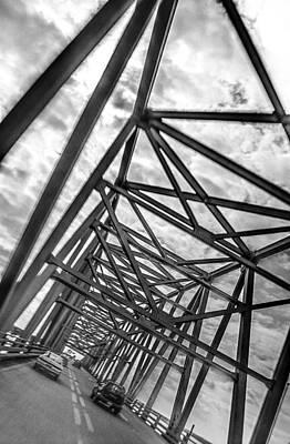 Photograph - Crossing Through The Chesapeake Bay Bridge by T Brian Jones