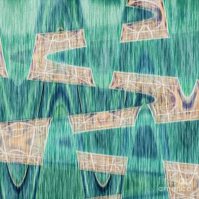 Mixed Media - Crossing Waves by Liz Leyden