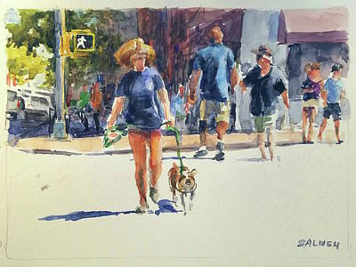 Painting - Crossing West 79th by Peter Salwen