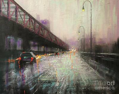 Painting - Crossing Williams Bridge by Chin H  Shin