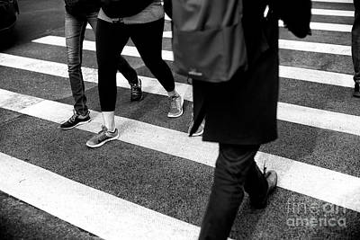 New York City Photograph - Crossings Casual by John Rizzuto