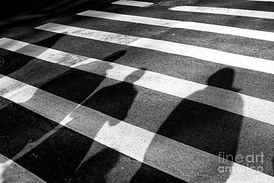 Art Print featuring the photograph Crossings Shadow People by John Rizzuto