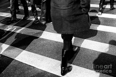 Art Print featuring the photograph Crossings Black Boots by John Rizzuto