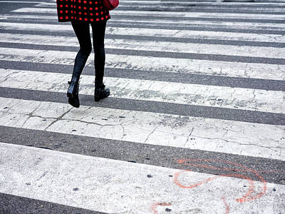 Photograph - Crossings Red Checkered by John Rizzuto