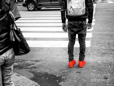 Photograph - Crossings Red Sneakers by John Rizzuto