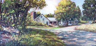 Painting - Crossroads Farmhouse by Marty Coulter