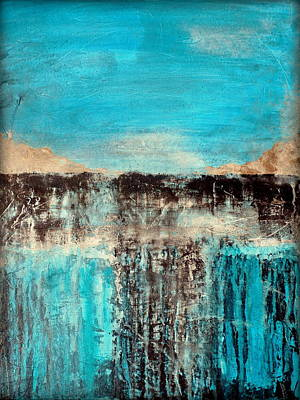 Modern Mixed Media - Crossroads by Holly Anderson