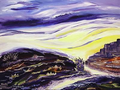 Desert Sunset Digital Art - Crossroads by Jennifer Galbraith