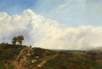 Crossroads Painting - Crossroads Over The Heath by George Vicat Cole