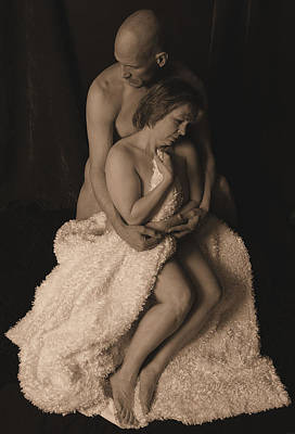 Middle Aged Female Nude Photograph - Crossroads Sepia by Robert Gebbie