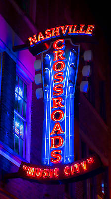 Nashville Sign Photograph - Music City Crossroads by Stephen Stookey