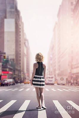 City Scenes Royalty-Free and Rights-Managed Images - Crosstown Swing by Evelina Kremsdorf