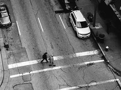 Crosswalk From Above Art Print by Dylan Murphy