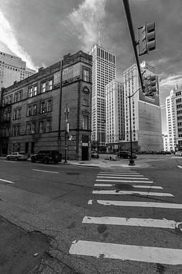 Photograph - Crosswalk In Detroit  by John McGraw