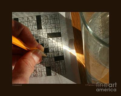 Photograph - Crossword by Patricia Overmoyer