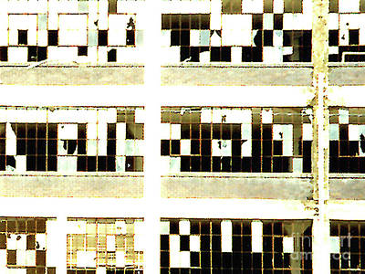 Photograph - Crossword Puzzle Broken Windows by Merton Allen