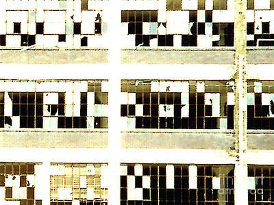 Photograph - Crossword Puzzle Broken Windows by Merton Allen