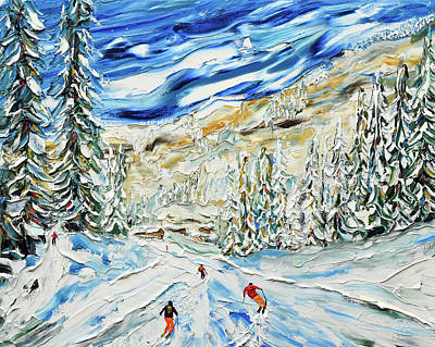 Painting - Crot Piste Avoriaz by Pete Caswell
