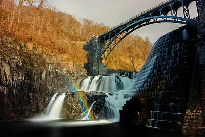 Photograph - Croton Dam Rainbow Spray by Mark Robert Rogers