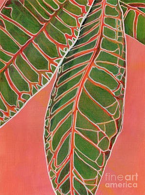 Painting - Crotons Catching by Amelia at Ameliaworks