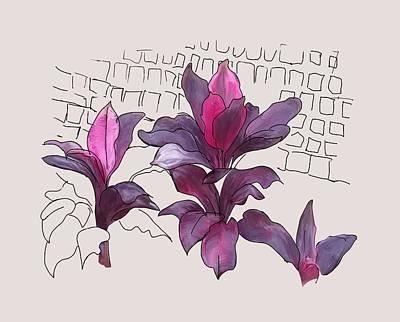 Painting - Crotons by Usha Shantharam