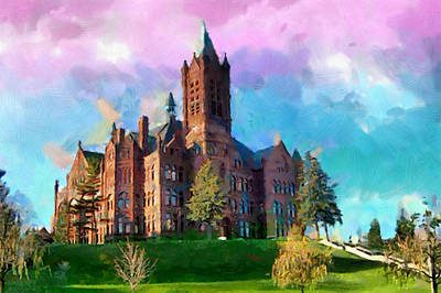 University School Painting - Crouse College by Anthony Caruso