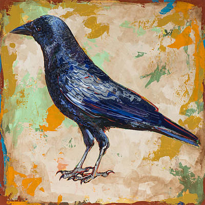 Raven Painting - Crow #1 by David Palmer