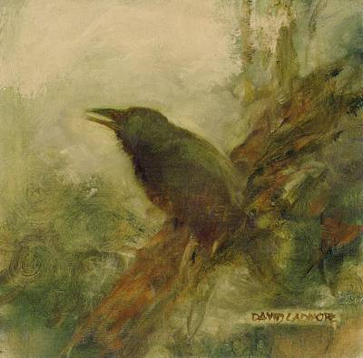 Crow Painting - Crow 14 by David Ladmore