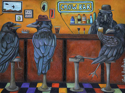 Art Print featuring the painting Crow Bar by Leah Saulnier The Painting Maniac