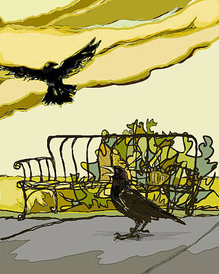 Crow Calling Art Print by Peggy Wilson