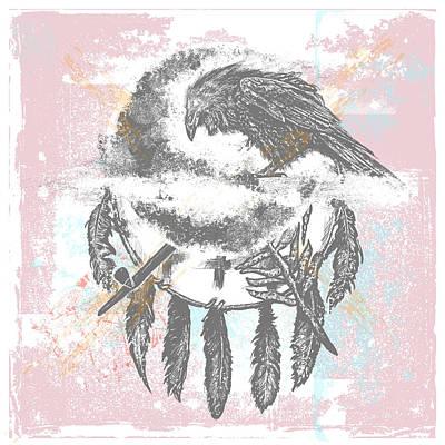 Chadlonius Digital Art - Crow by Chad Lonius