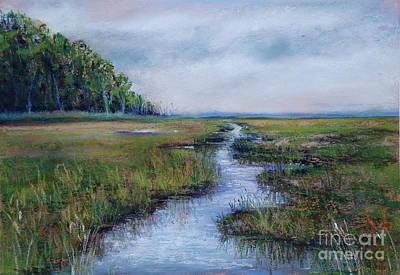 Crow Creek Marsh Art Print by Joyce A Guariglia