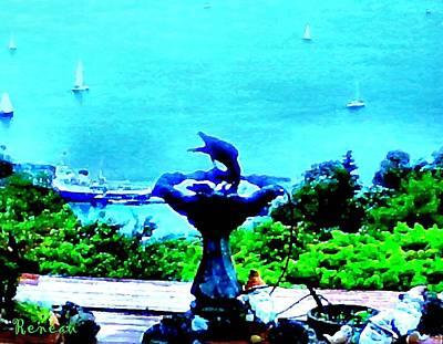Photograph - Crow Fountain by Sadie Reneau