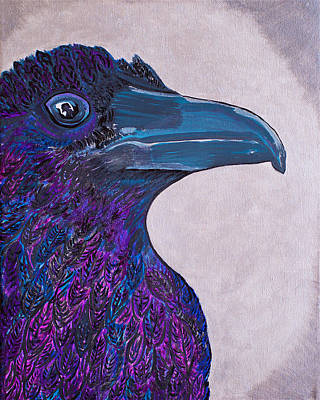 Painting - Crow In Purple Hue And Cry by Sacha Hope
