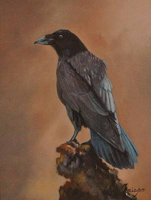 Painting - Crow by Jean Yves Crispo