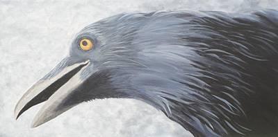 Medicine Crow Painting - Crow Magic by Xochi Hughes Madera