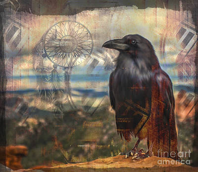 Digital Art - Crow Medicine 2015 by Kathryn Strick