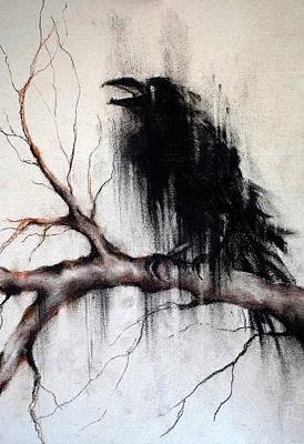 Crow On A Branch Original