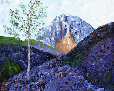 Painting - Crow Pass Trail by Burton Hanna