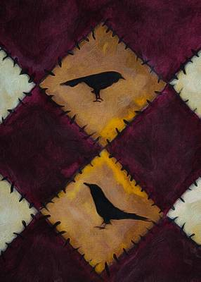 Painting - Crow Quilt  by Michele Carter