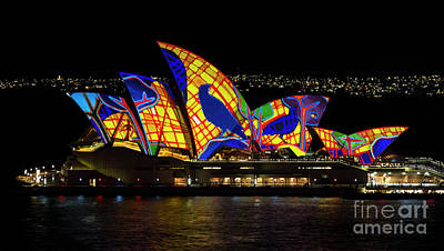 Photograph - Crow Sails - Sydney Opera House - Vivid Sydney by Bryan Freeman