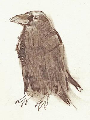 Crow Art Print by Sarah Lane