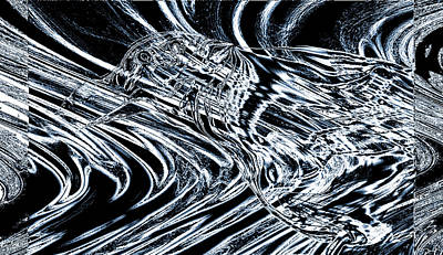 Crow Digital Art - Crow Spirit In Starlight by Abstract Angel Artist Stephen K