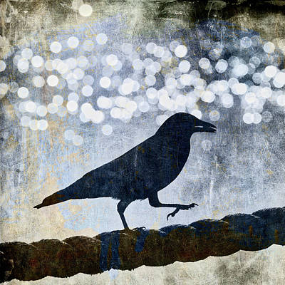 Photograph - Crow Walking The Line by Carol Leigh