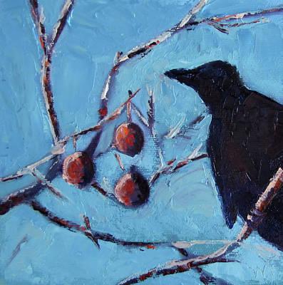 Crow Art Print by Wendie Thompson