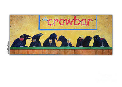Greetings Card Painting - Crowbar by Will Bullas