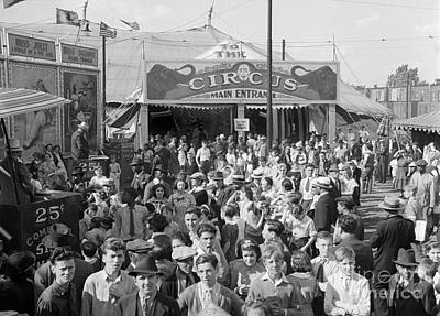Photograph - Crowd At The Circus, C.1940s by H Armstrong Roberts and ClassicStock