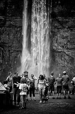 Photograph - Crowd At The Foot Of The Falls by Marvin Borst
